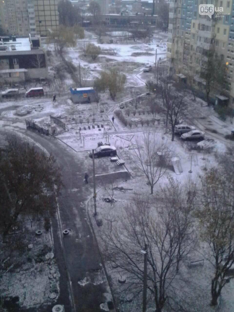 В Днепр пришла зима: выпал первый снег (ФОТО, ВИДЕО), фото-3