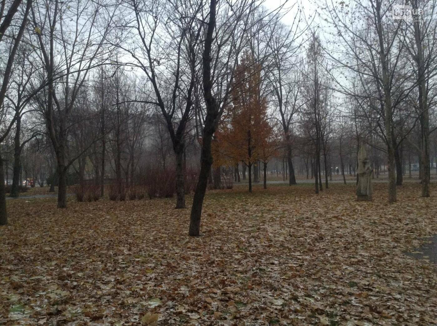 В Днепр пришла зима: выпал первый снег (ФОТО, ВИДЕО), фото-1