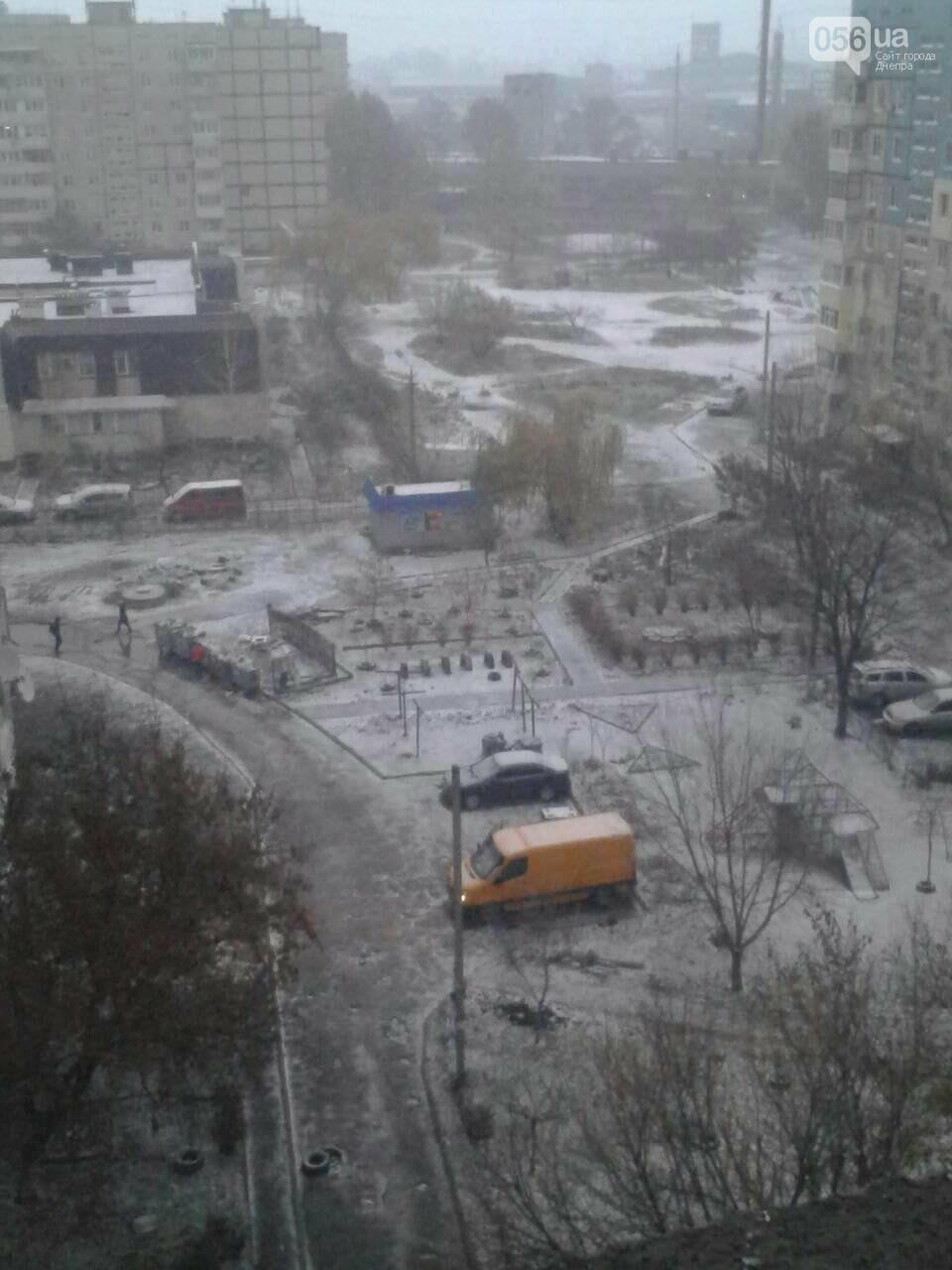 В Днепр пришла зима: выпал первый снег (ФОТО, ВИДЕО), фото-4