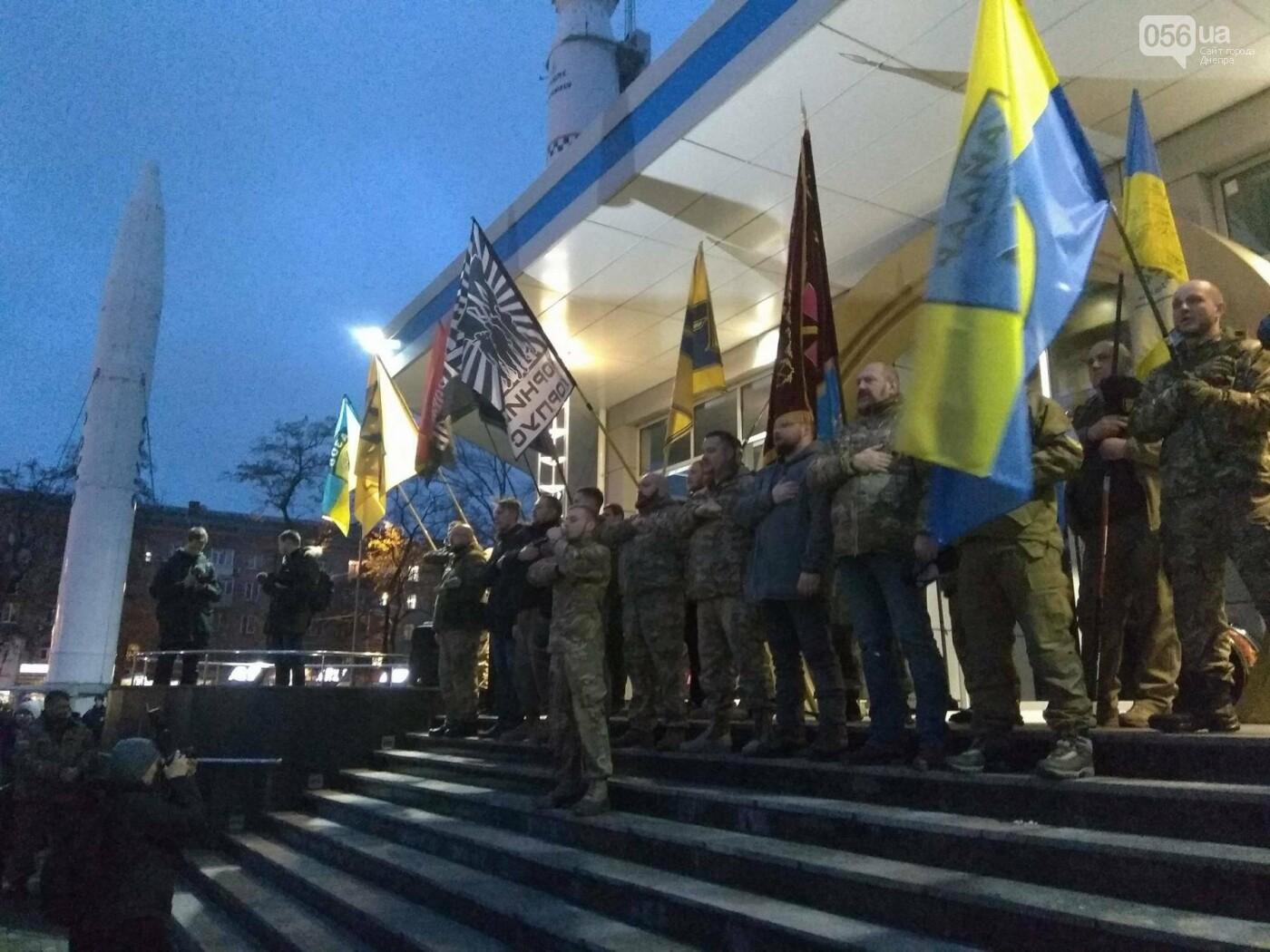 В центре Днепра прошла колонна добровольцев АТО (ФОТО, ВИДЕО), фото-7
