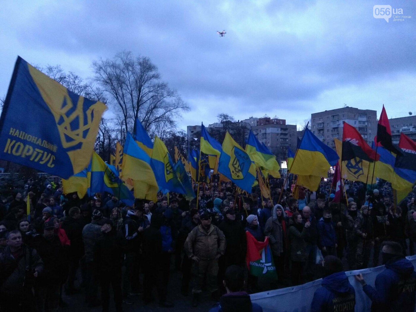 В центре Днепра прошла колонна добровольцев АТО (ФОТО, ВИДЕО), фото-9