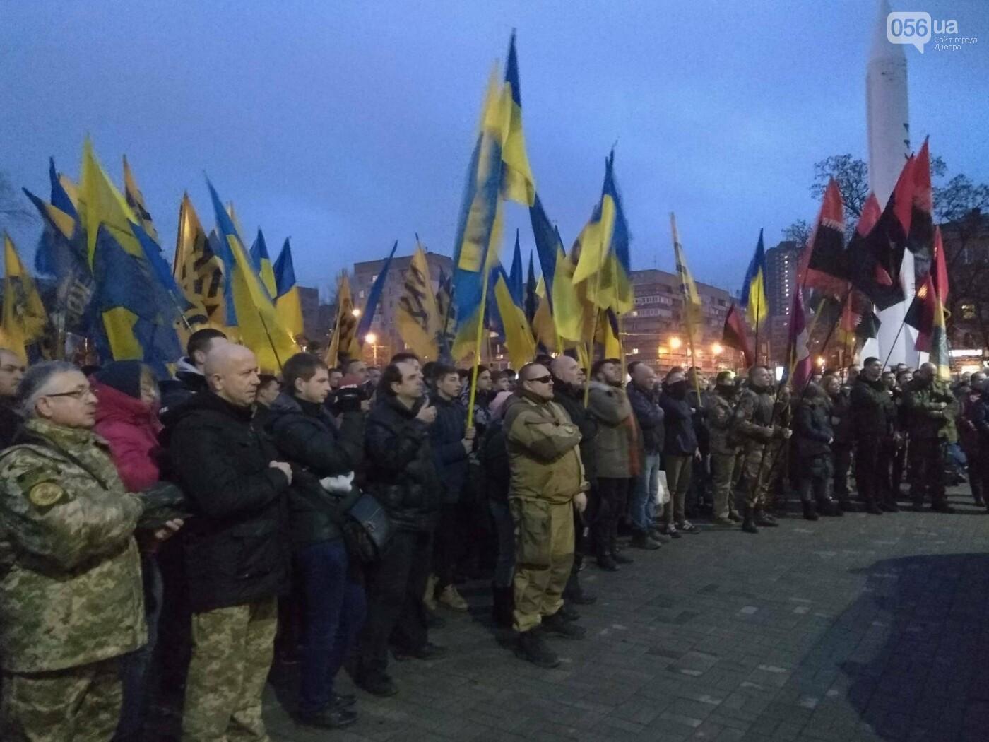 В центре Днепра прошла колонна добровольцев АТО (ФОТО, ВИДЕО), фото-6