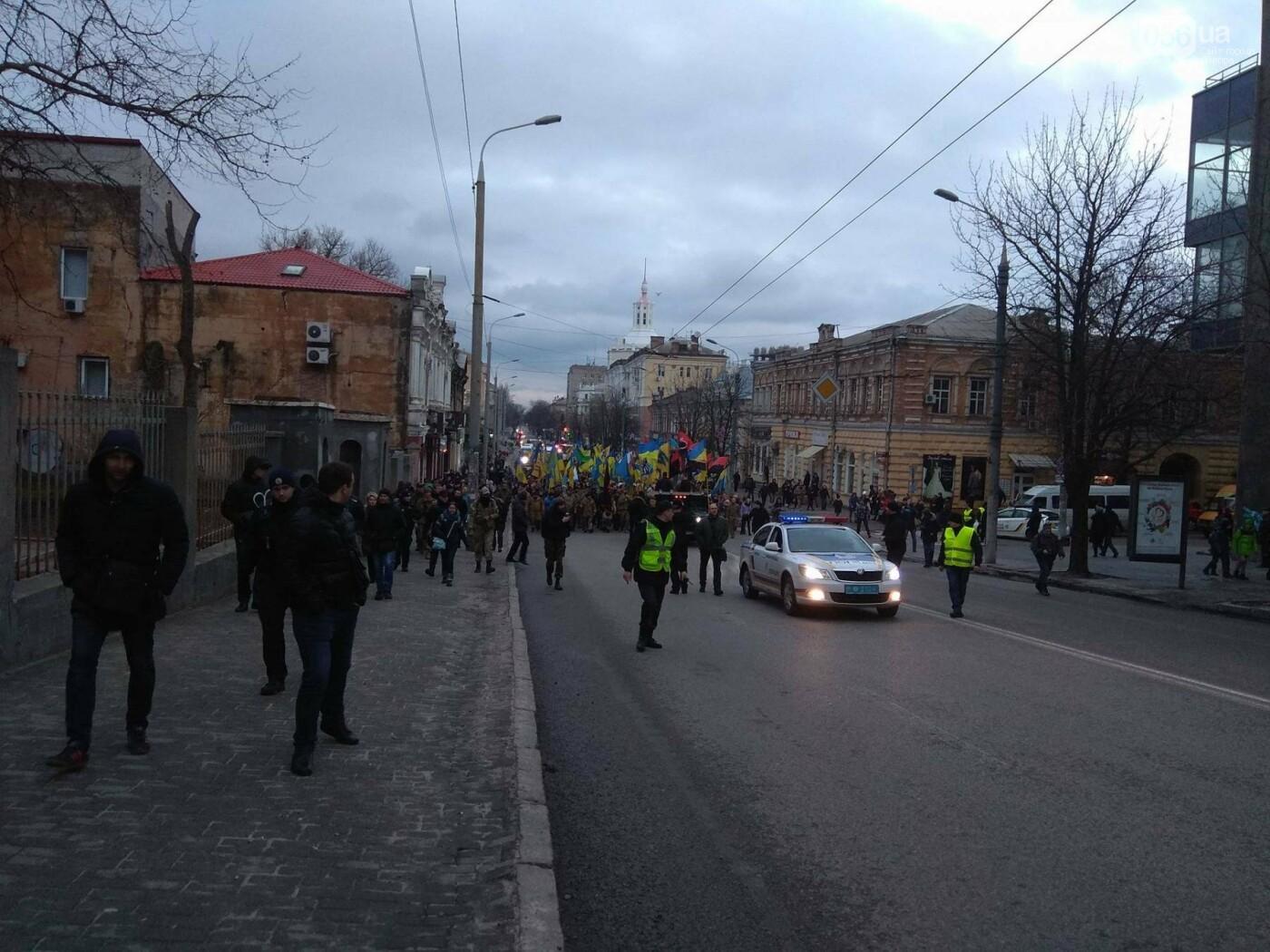 В центре Днепра прошла колонна добровольцев АТО (ФОТО, ВИДЕО), фото-4