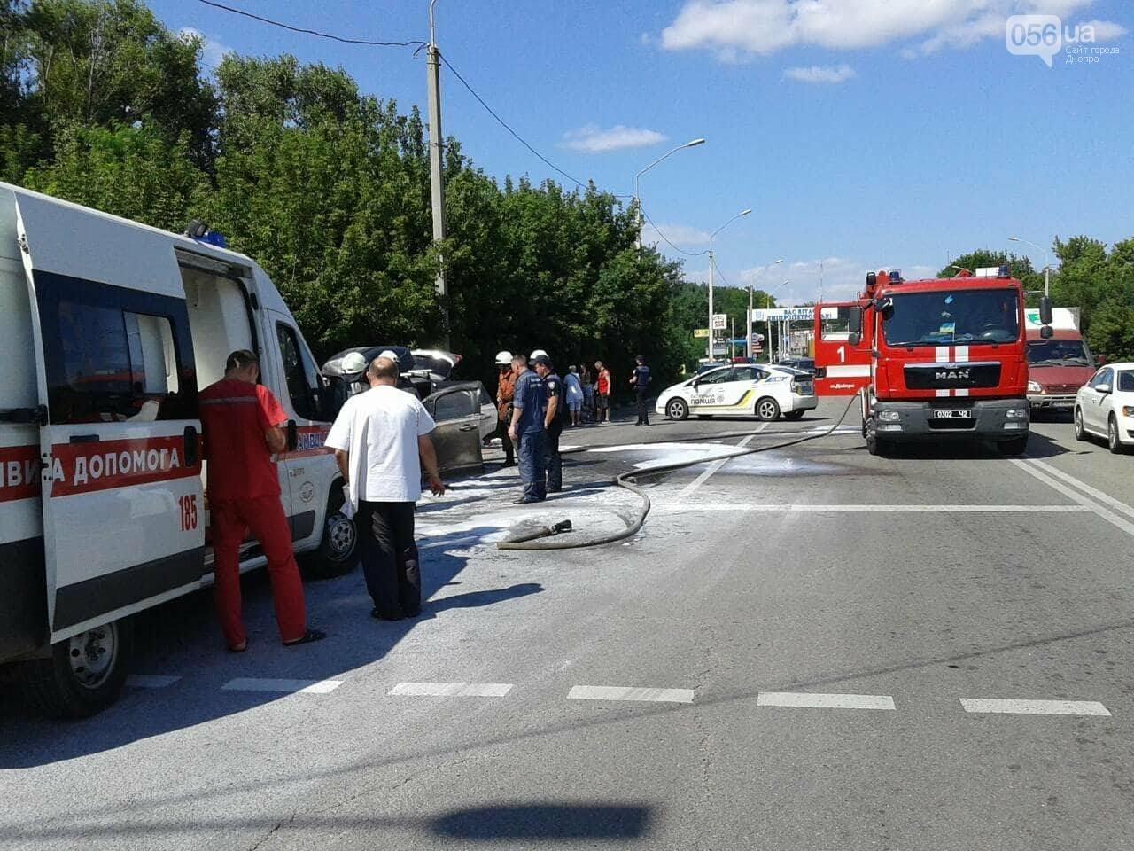 В Днепре на Запорожском шоссе на ходу загорелся автомобиль, - ФОТО, фото-2