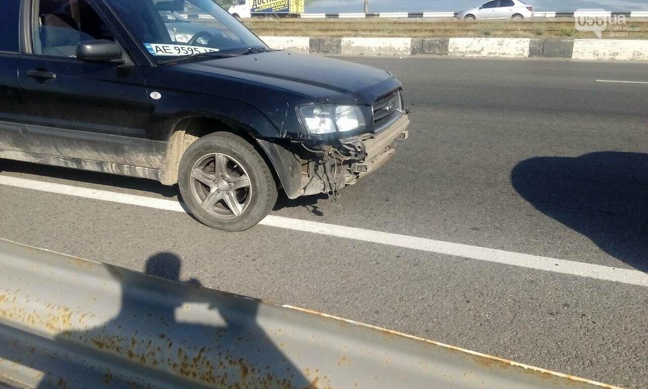 В Днепре с Кайдакского моста слетел джип: пострадал водитель, - ФОТО, ВИДЕО, фото-4