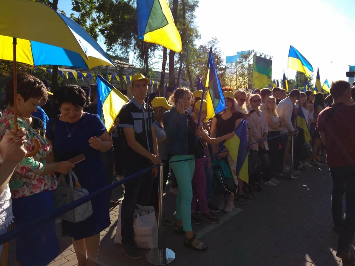 В Днепре Президент поднял самый большой государственный флаг Украины, - ФОТОРЕПОРТАЖ , фото-4