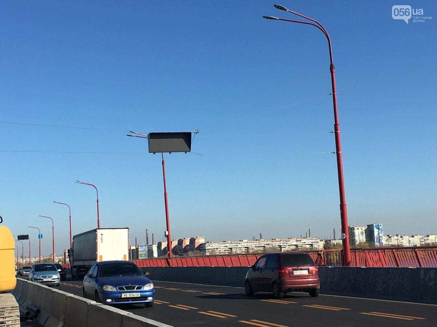На Новом мосту в Днепре продолжает падать фонарный столб: что с ним будут делать, - ФОТО,  ВИДЕО, фото-14
