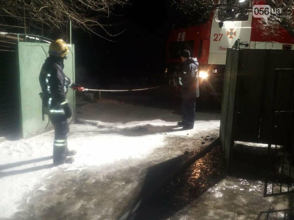 На Днепропетровщине горел гараж с автомобилем, - ФОТО, ВИДЕО, фото-3