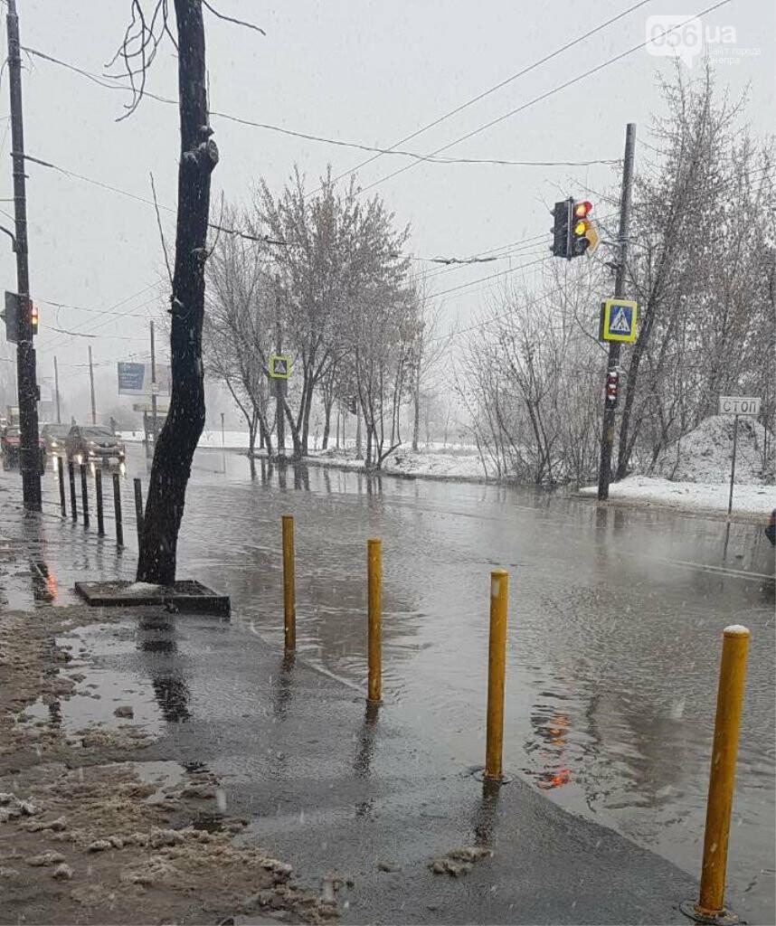Днепряне требуют построить ливневки на Мануйловском проспекте , - ФОТО  , фото-1