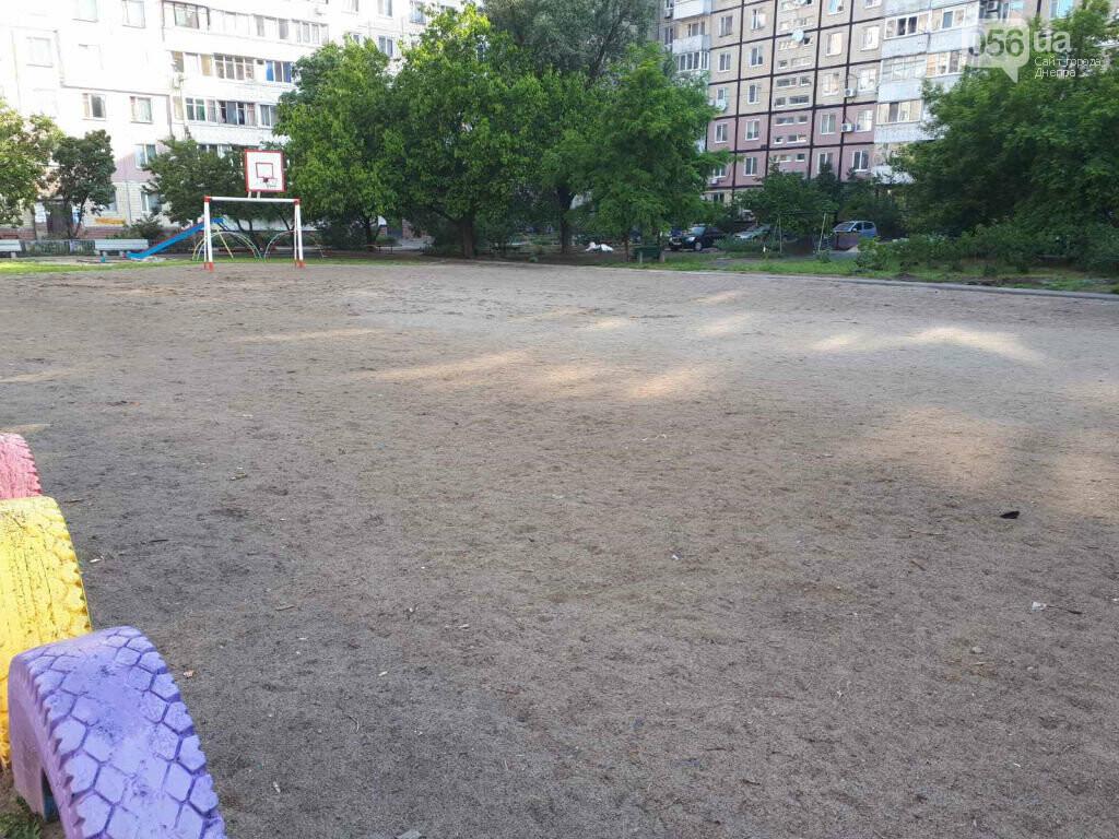 Днепряне просят отремонтировать мини-стадион на жилмассиве Левобережный-2, фото-1