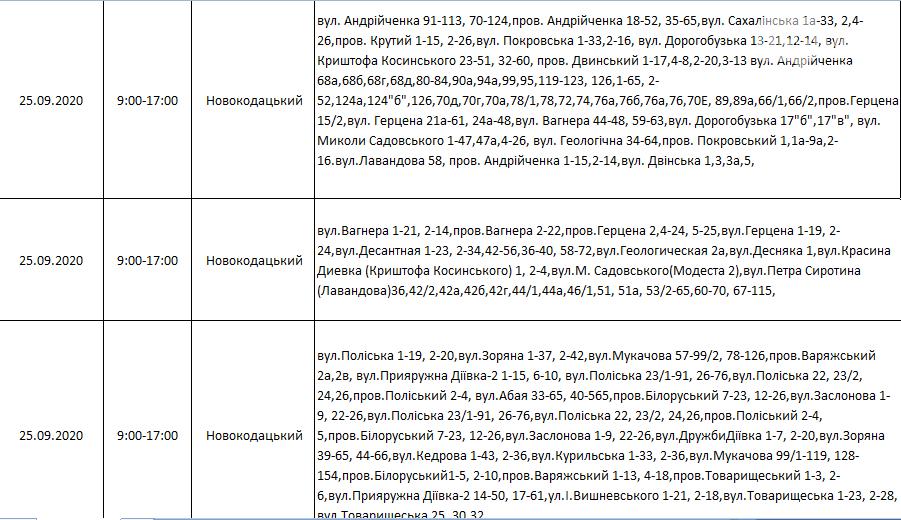По каким адресам в Днепре на этой неделе не будет света: график на 22-27 сентября , фото-25