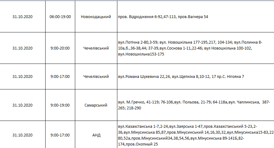 Отключения света в Днепре: график на 27 октября - 1 ноября , фото-39