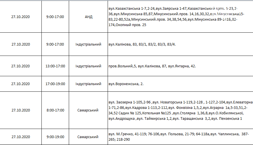 Отключения света в Днепре: график на 27 октября - 1 ноября , фото-3