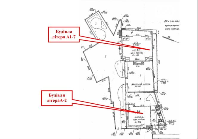 Схема комплекса, дом Брежнева в нижней части