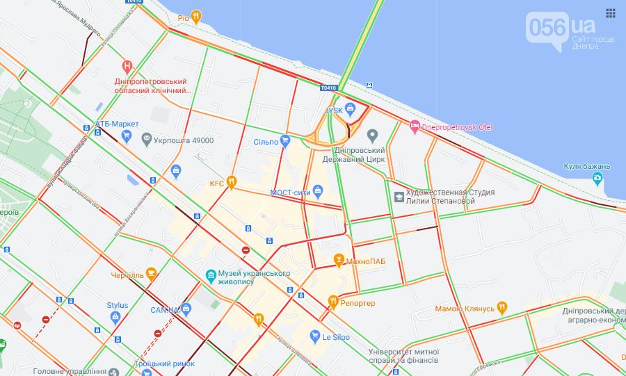 """Пробки в Днепре: какие улицы """"стоят"""", - АДРЕСА , фото-1"""