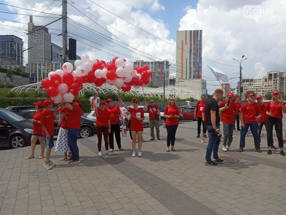 В Днепре Фестивальный причал стал красным, - ФОТО, ВИДЕО, фото-7
