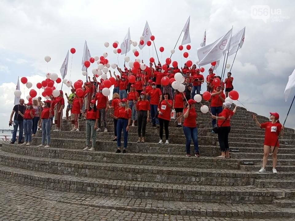 В Днепре Фестивальный причал стал красным, - ФОТО, ВИДЕО, фото-6