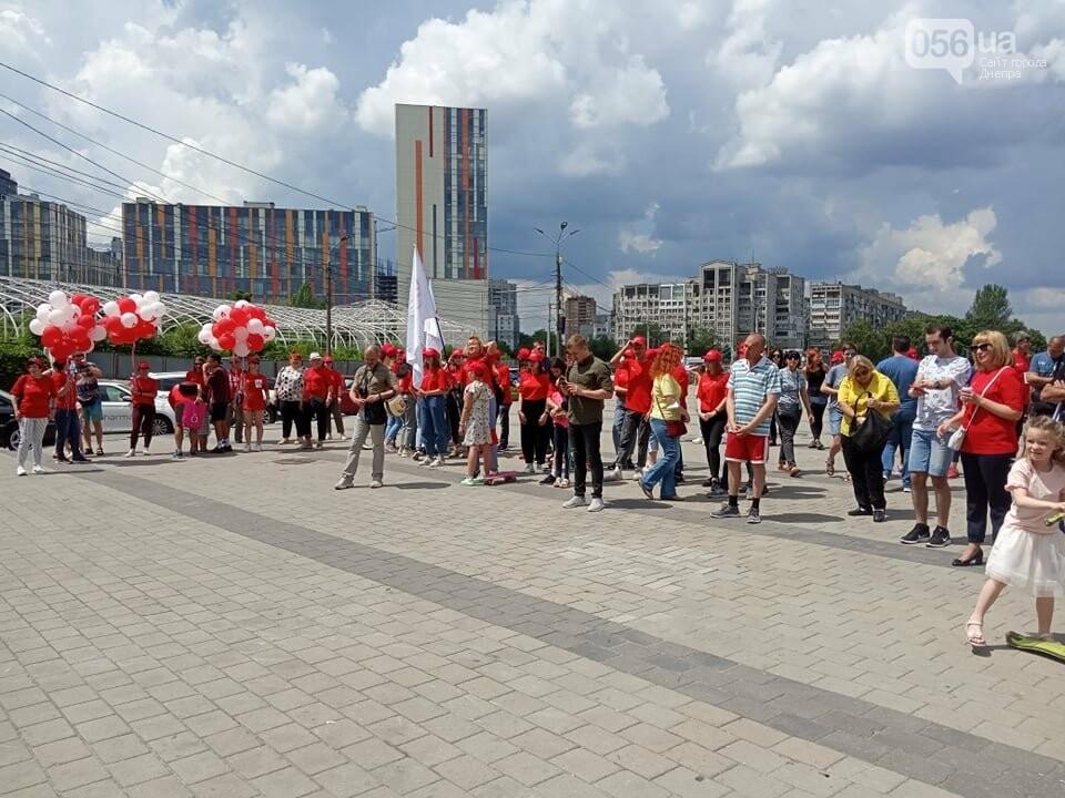 В Днепре Фестивальный причал стал красным, - ФОТО, ВИДЕО, фото-1