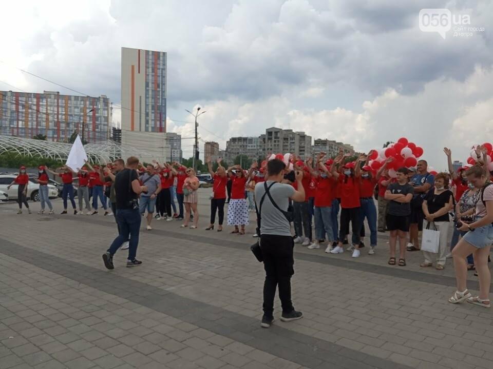 В Днепре Фестивальный причал стал красным, - ФОТО, ВИДЕО, фото-3