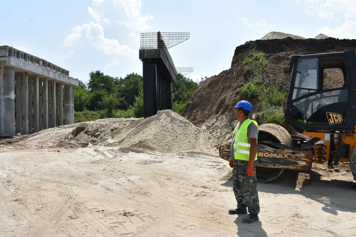 На Днепропетрощине разобрали а потом собрали автодорожный путепровод: ремонт идет 24/7, фото-3