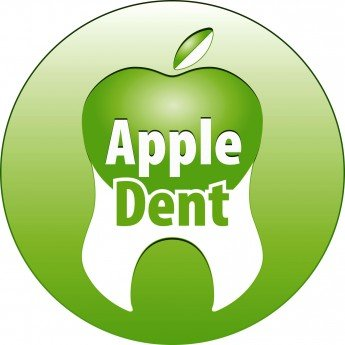 Логотип - Apple Dent, клиника ортодонтии и эстетической стоматологии