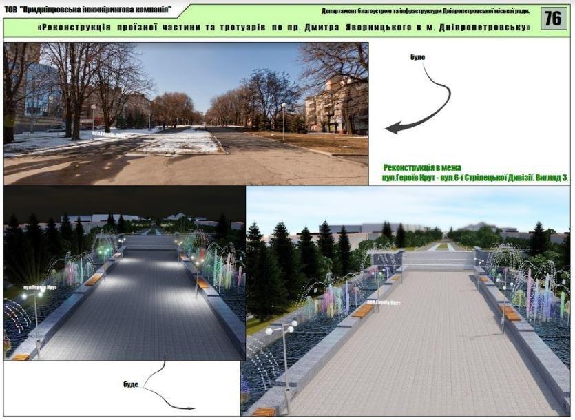 Велодорожки, избавление от МАФов и полный ремонт дорог: как будет выглядеть обновленный проспект Яворницкого (ФОТО), фото-4