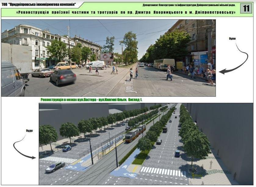 Велодорожки, избавление от МАФов и полный ремонт дорог: как будет выглядеть обновленный проспект Яворницкого (ФОТО), фото-3