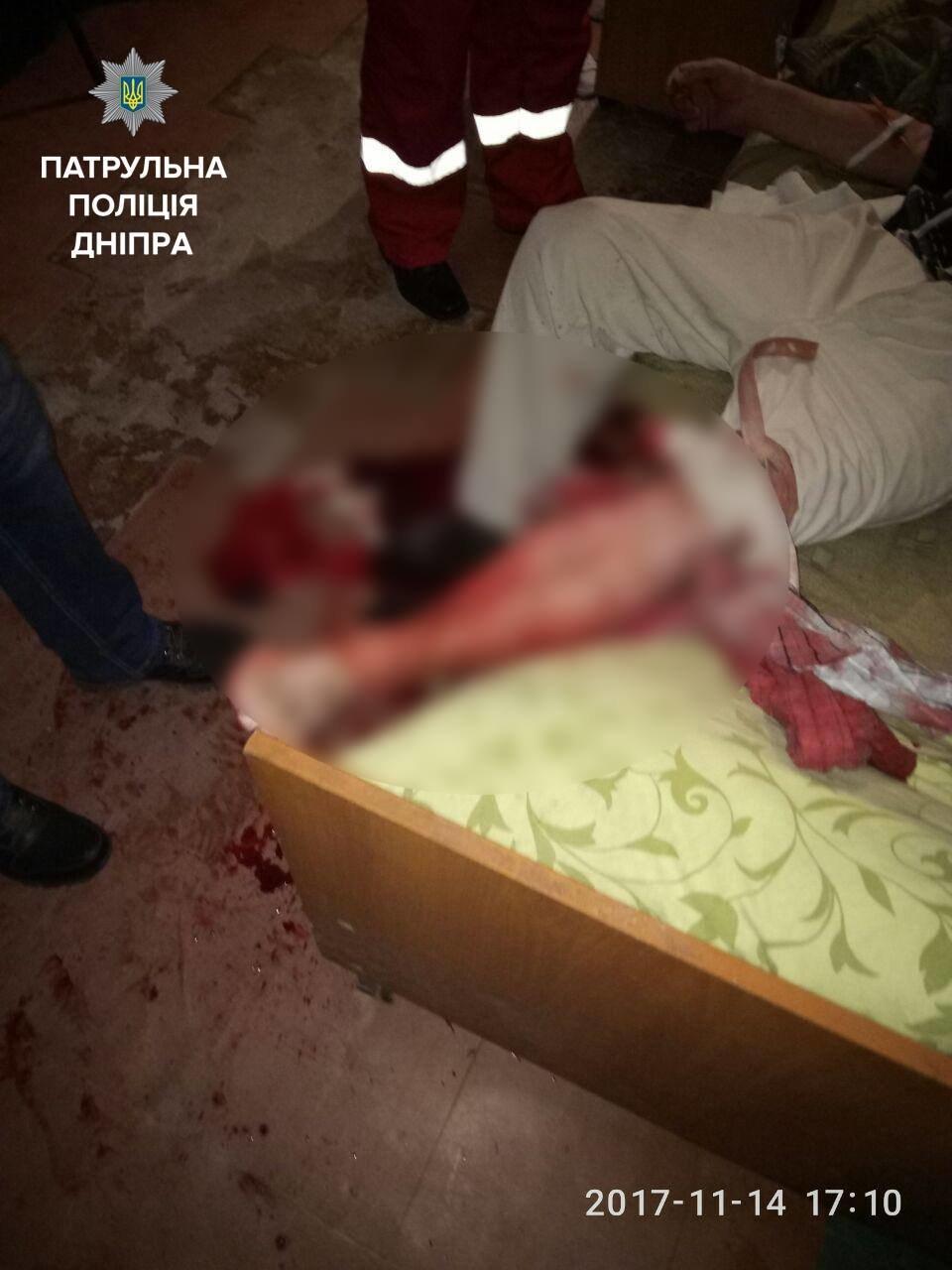 В Днепре порезали жильца гериатрического пансионата (ФОТО), фото-3
