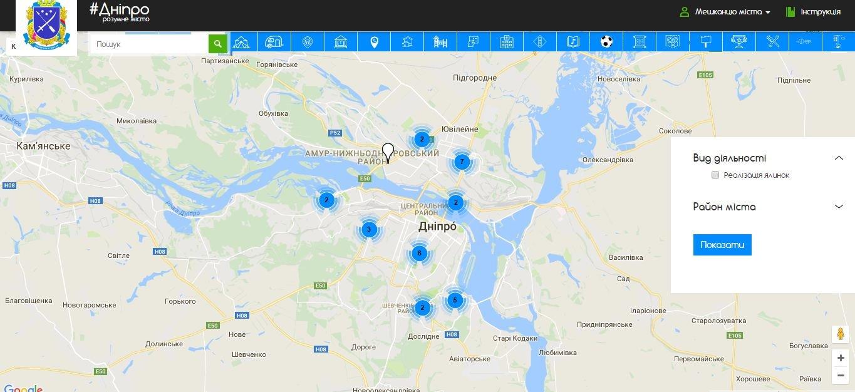 На электронной карте Днепра появились официальные точки продажи ёлок, фото-1