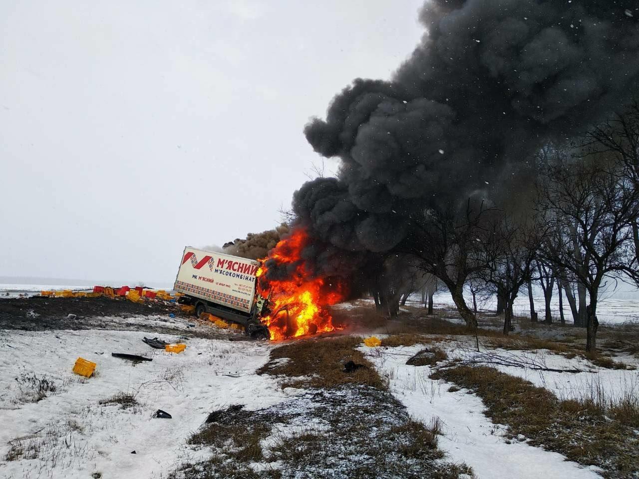 Масштабное ДТП с пожаром под Днепром: погибло 3 человека и ребенок (ФОТО), фото-1