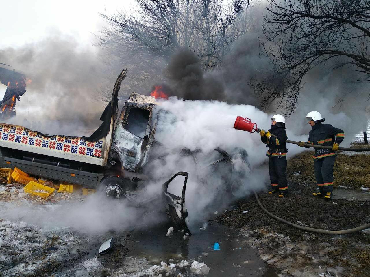 Масштабное ДТП с пожаром под Днепром: погибло 3 человека и ребенок (ФОТО), фото-6