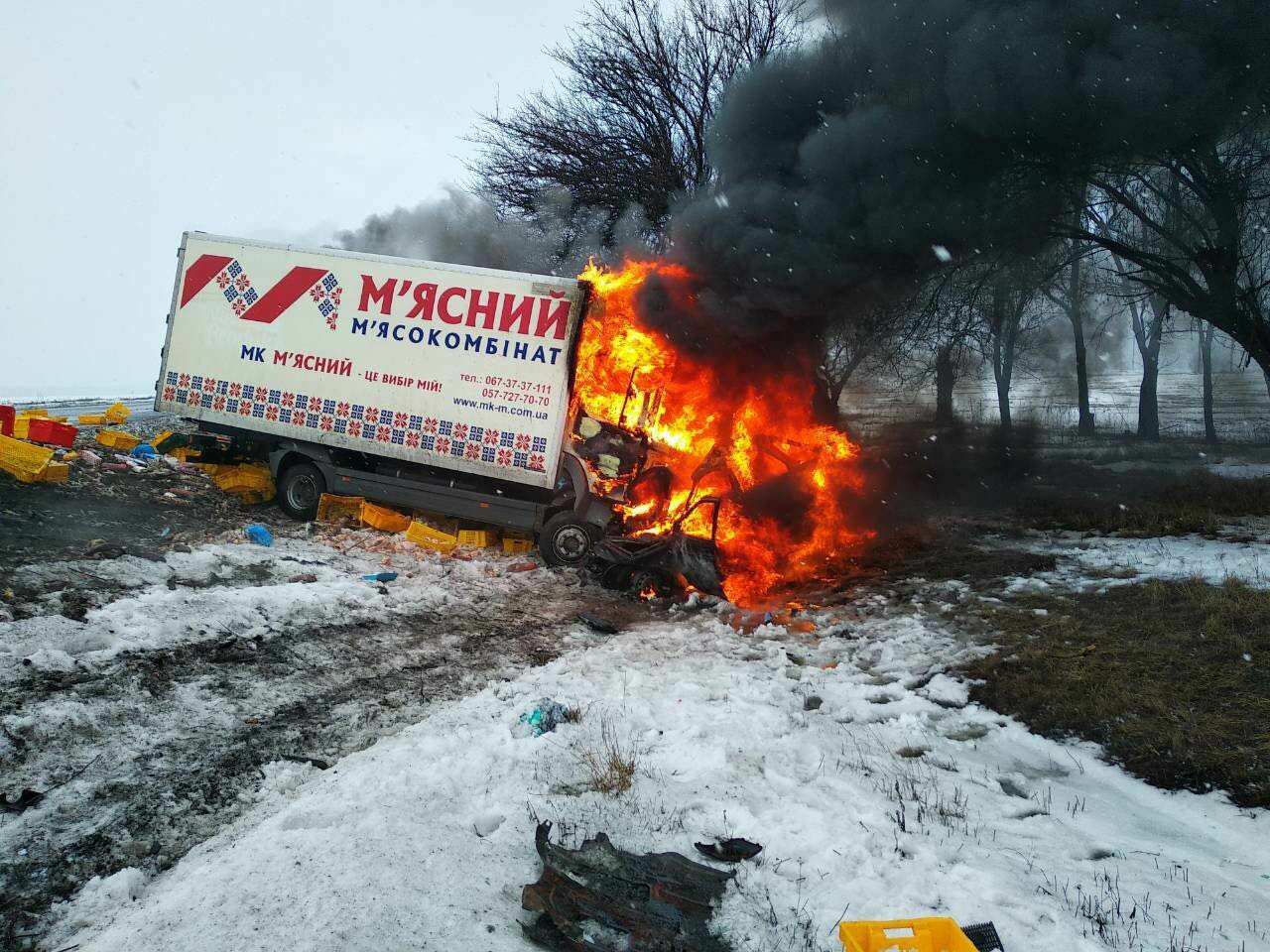 Масштабное ДТП с пожаром под Днепром: погибло 3 человека и ребенок (ФОТО), фото-2