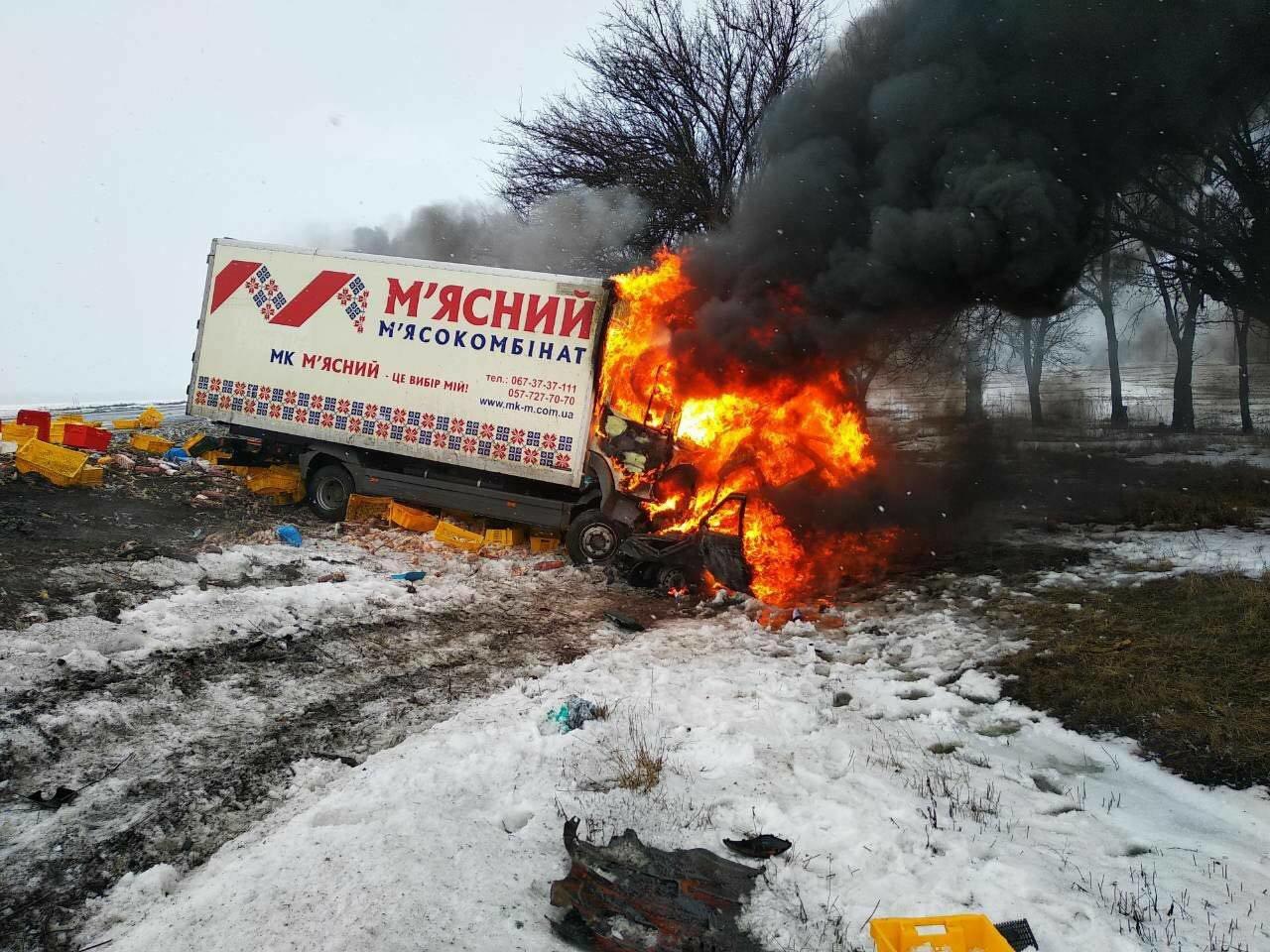 Масштабное ДТП с пожаром под Днепром: погибло 3 человека и ребенок (ФОТО), фото-3