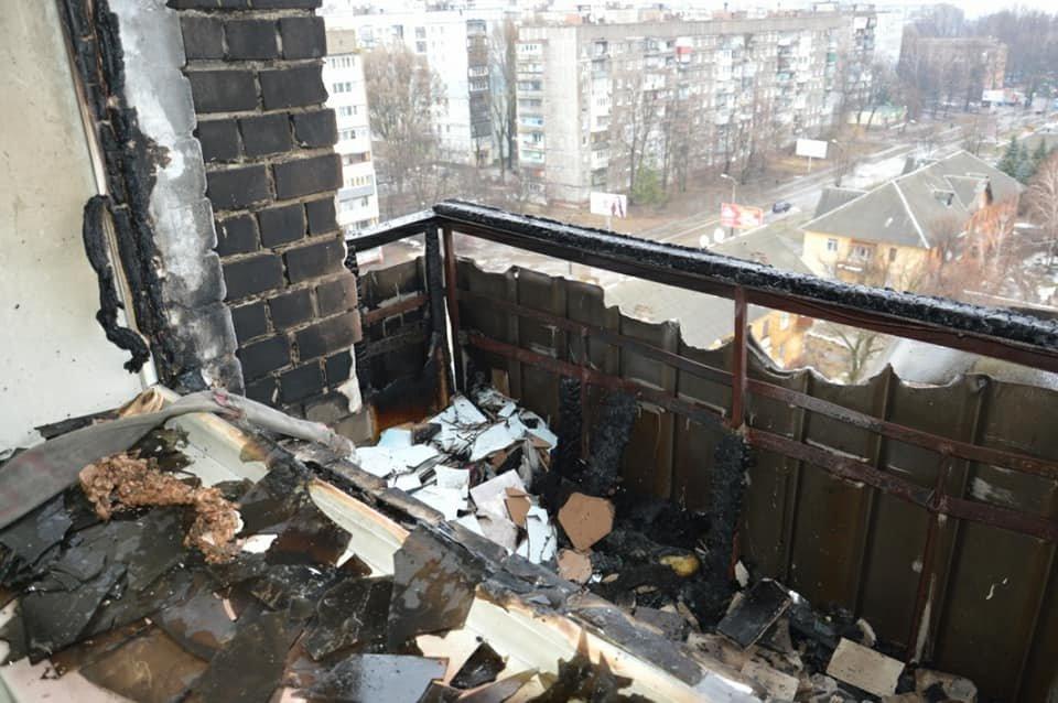 Пожар в Днепре: на правом берегу горела многоэтажка (ФОТО), фото-2