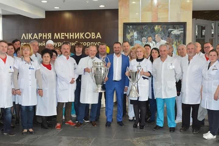Кубки Лиги Чемпионов побывали в больнице Мечникова (ФОТО) , фото-3