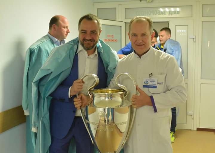 Кубки Лиги Чемпионов побывали в больнице Мечникова (ФОТО) , фото-4