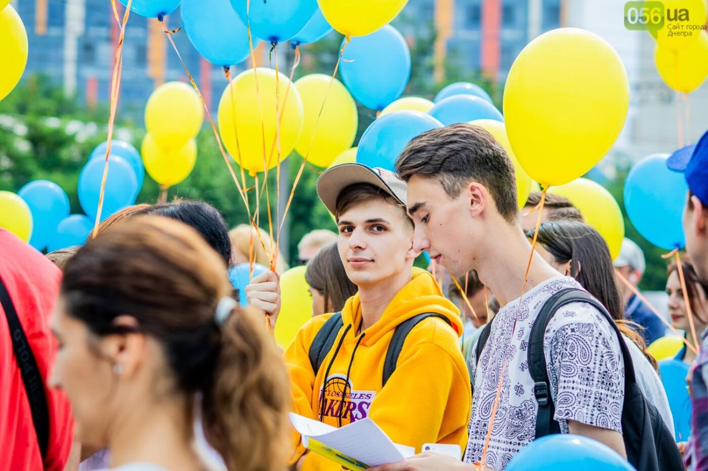 В Днепре устроили красочный флешмоб ко Дню Конституции, - ФОТОРЕПОРТАЖ, фото-11
