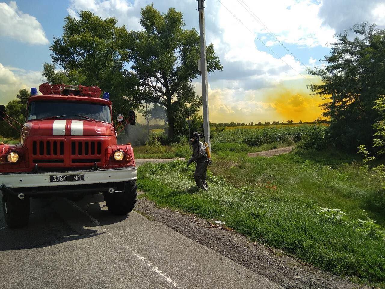 Утечка кислоты и ядовито-оранжевое облако: под Днепром по трассе растеклось химическое вещество, - ФОТО, ВИДЕО, фото-5