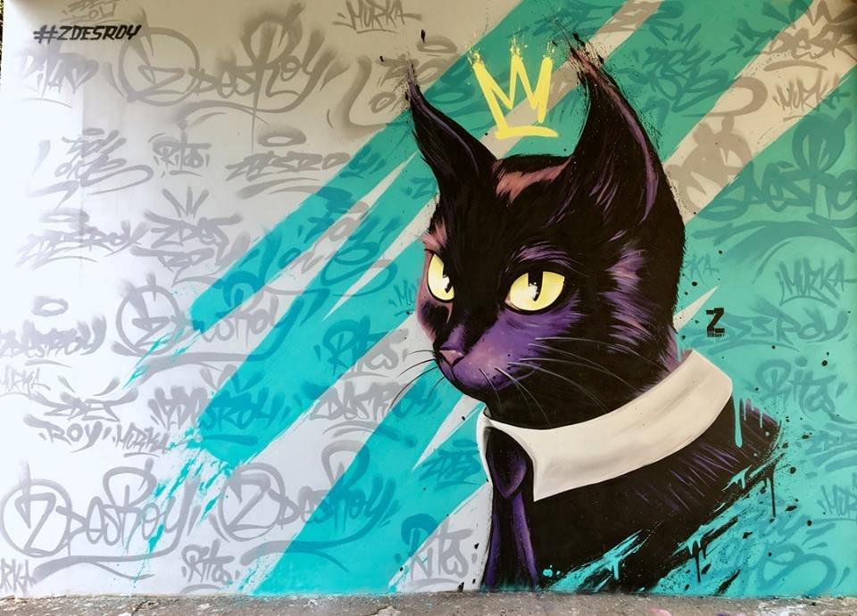 В Днепре на День кошек появился мурал с черным красавцем: где его увидеть - ФОТО, ВИДЕО, фото-2