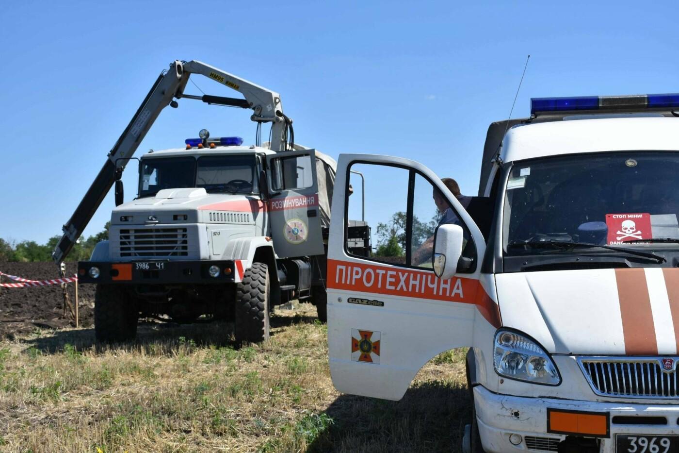 На Днепропетровщине нашли бомбу времен прошлых войн, - ФОТО, ВИДЕО, фото-3