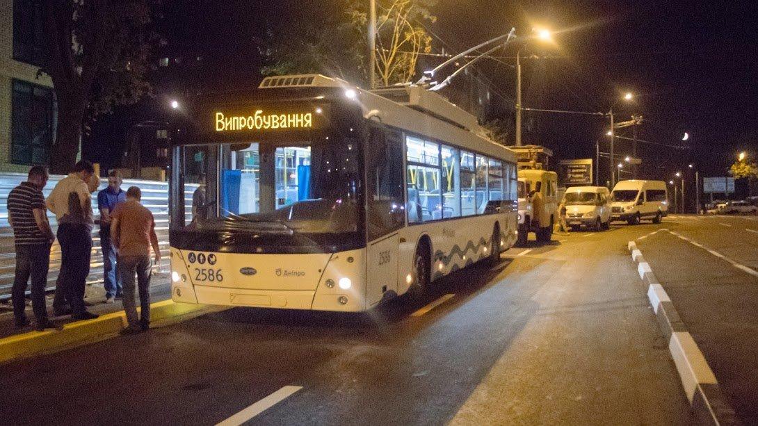В Днепре запустили первый пробный троллейбус на жилмассив Сокол, - ФОТО, фото-4