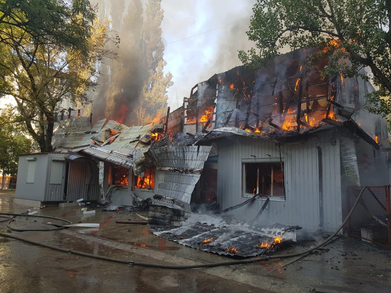 В Днепре горит сауна и тренажерный зал, - ФОТО, фото-1