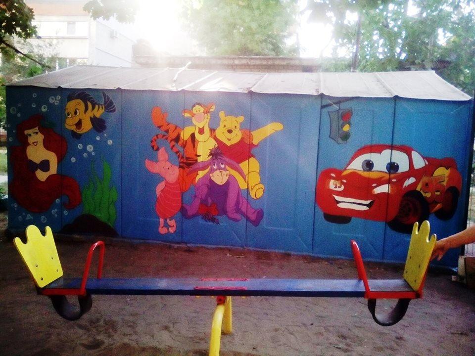 В Днепре художница «оживила» старый гараж героями из мультфильмов, - ФОТО, фото-2