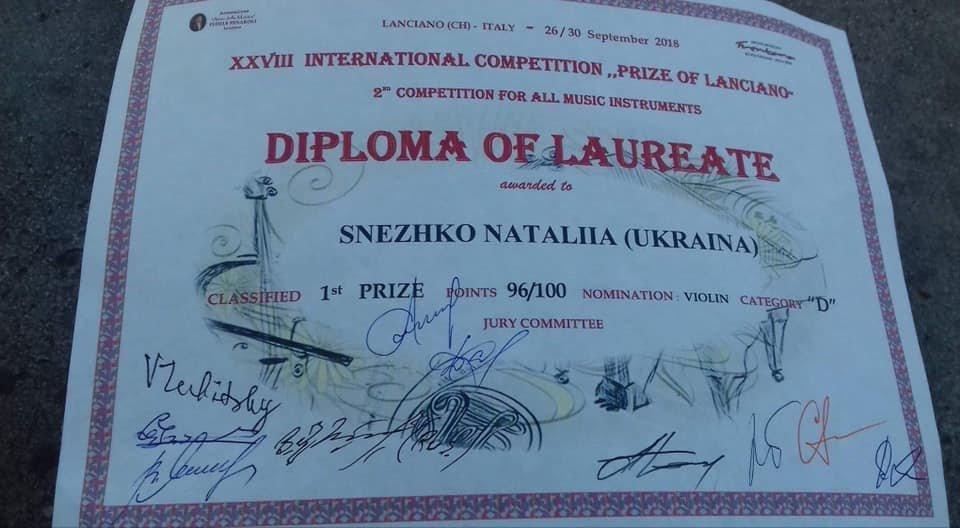 15-летняя скрипачка из Днепра стала лучшей в мире, - ФОТО, фото-1