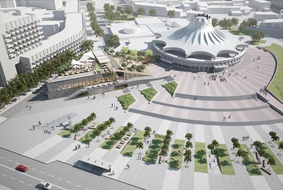 В Днепре планируют капитально реконструировать площадь перед цирком: как это будет выглядеть, - ФОТО, фото-1