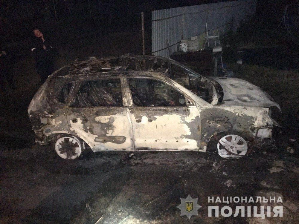 В Днепре подожгли иномарку и оставили рядом канистру: полиция ищет виновных, - ФОТО , фото-1