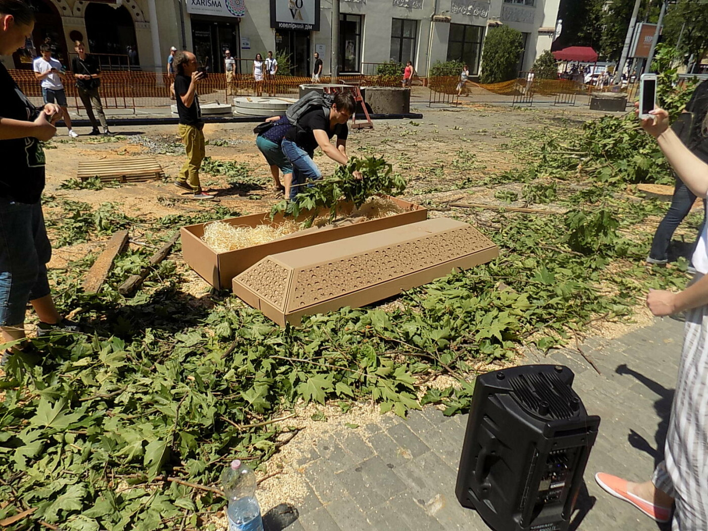 В Днепре провели «похороны» деревьев с Короленко: последние деревья срубили, пока город спал, - ФОТО, фото-11