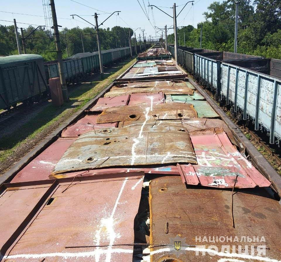 Под Днепром угнали 8 вагонов с металлоломом, - ФОТО, фото-2