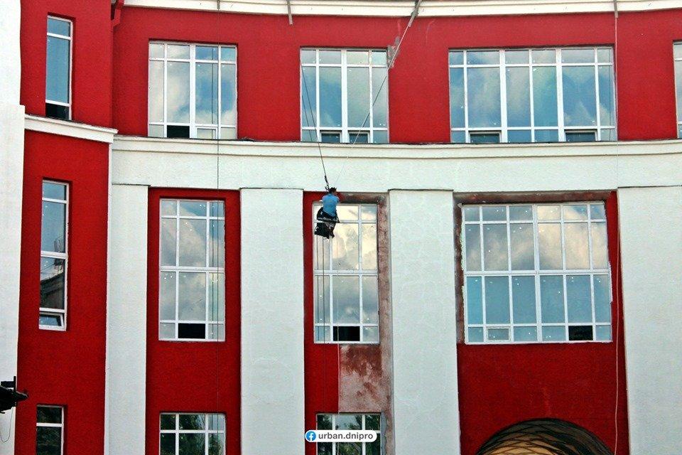 """В Днепре """"Дворец Ильича"""" превращают в """"Украинский дом"""": как выглядит новый фасад здания, - ФОТО, фото-1"""