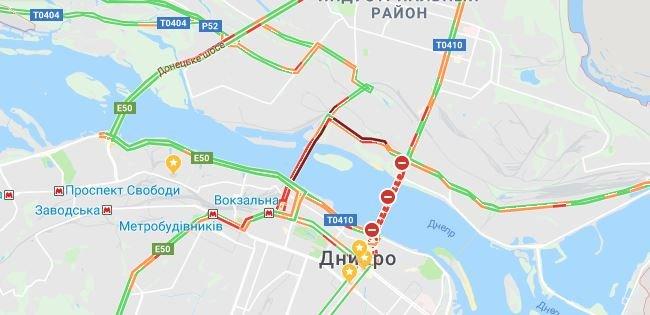 Пешеходный Новый мост, пробки и задержка маршруток: как обстоит ситуация на дорогах Днепра, - ФОТО, фото-3